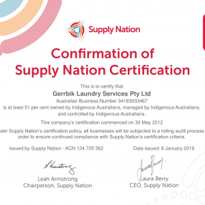 Confirmation of Supply Nation Certification
